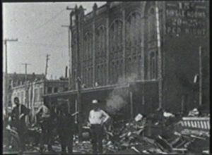 Galveston Hurricane of 1900 - Panoramic View of Tremont Hotel