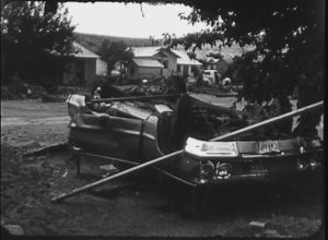 Aftermath of Flash Flood in Sanderson (1965)