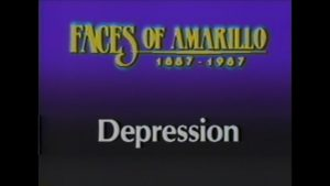 Faces of Amarillo, No. 5 - Depression (1987)