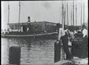 Galveston Hurricane of 1900 - Panorama of Wreckage of Water Front